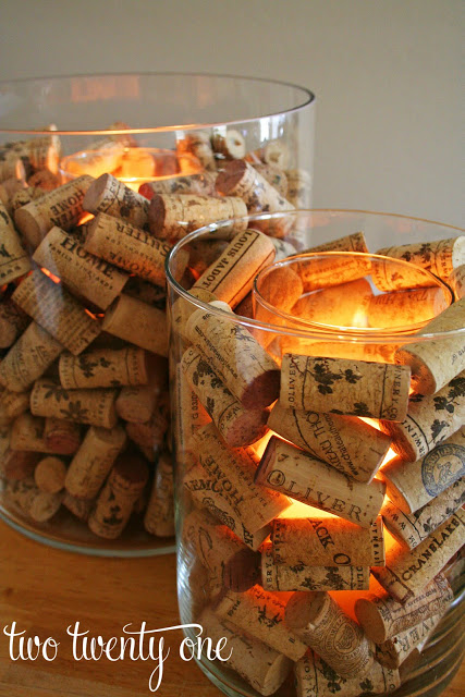 Diy wine cork craft ideas nectar of the vine one of the easier projects to on our list these wine cork candle votives are perfect for decorating or for using as centerpieces during a dinner party solutioingenieria Choice Image