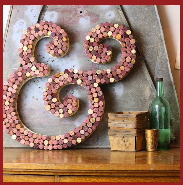 Diy wine cork craft ideas nectar of the vine in addition to monograms you could also make this adorable ombre cork heart or this heart frame to hang up or place on a shelf solutioingenieria Gallery